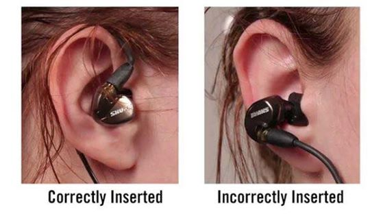 The correct way to insert earphones
