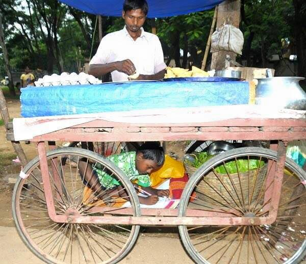 True respect - egg vendor and study table in one