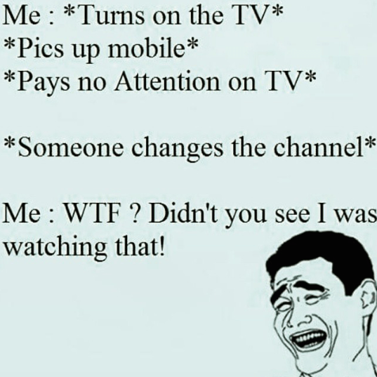 What happens when we watch TV with mobile in hand