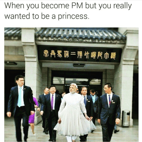 When Narendra Modi dressed like a queen