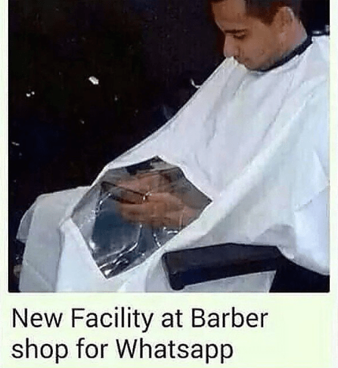 New facility at barber shop for whatsapp