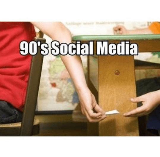 This is how social media worked in 90's