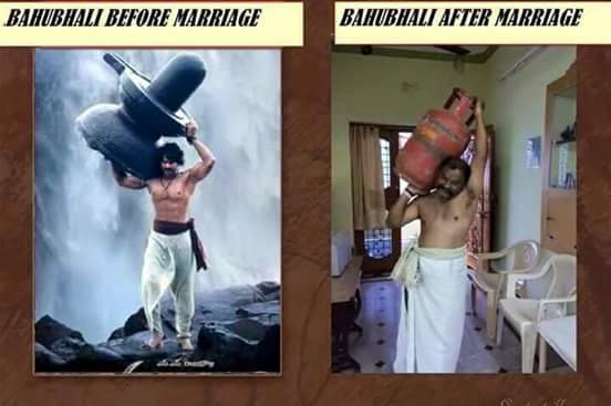 Bahubali before marriage and after marriage