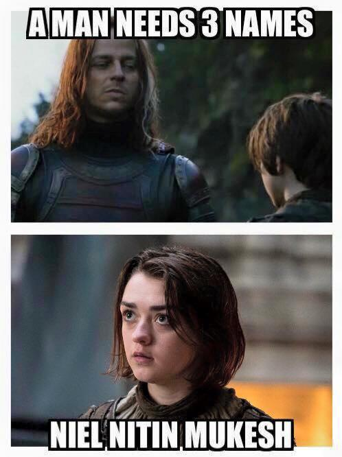 A man need 3 names - neil nitin mukesh spotted in GOT