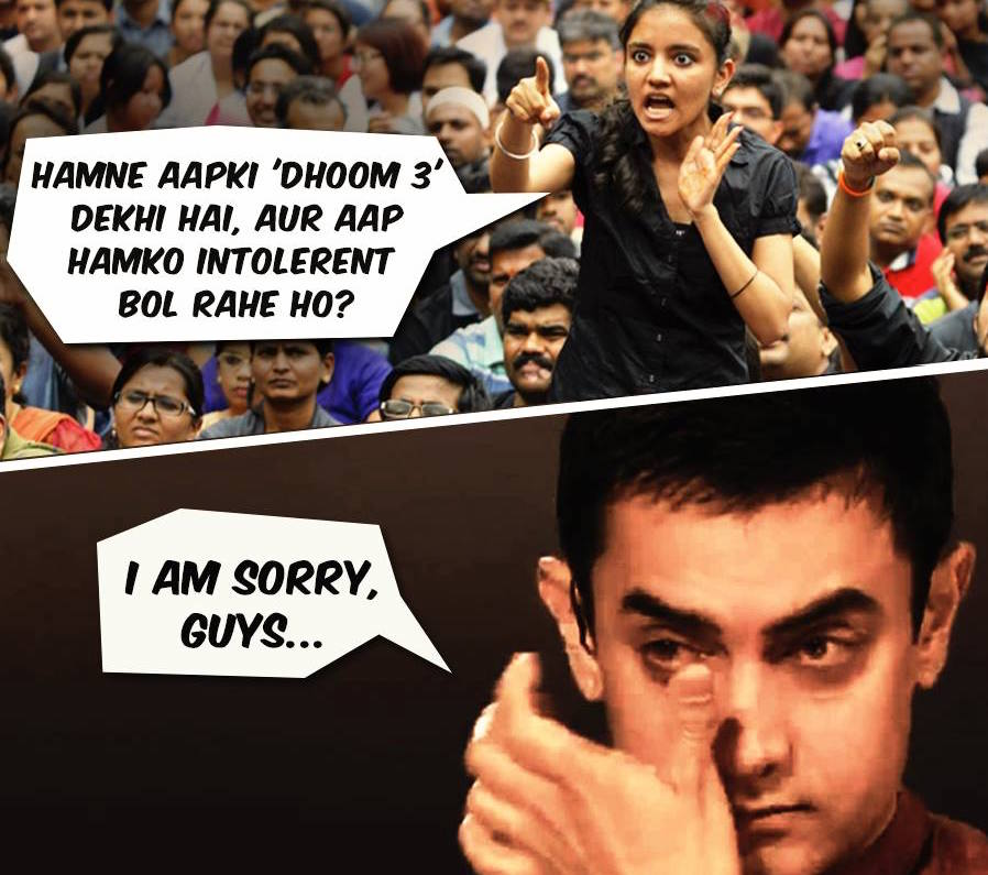 Aamir Khan getting response for his statement