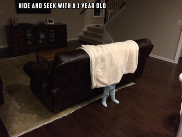 hide and seek with a 1 year old