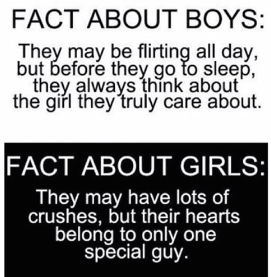Facts about boys and girls