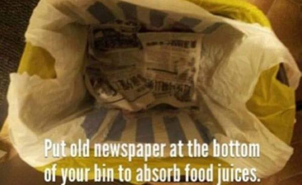 Amazing newspaper tip for staying clean