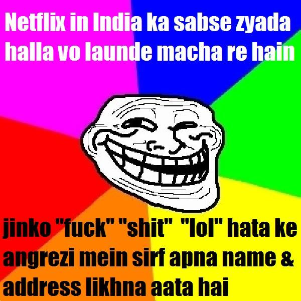 Netflix launch in India meme