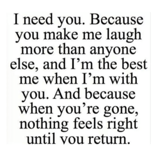 I need you - beautiful quote image