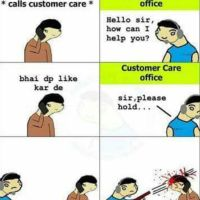 Facebook profile picture like customer care office - funny meme