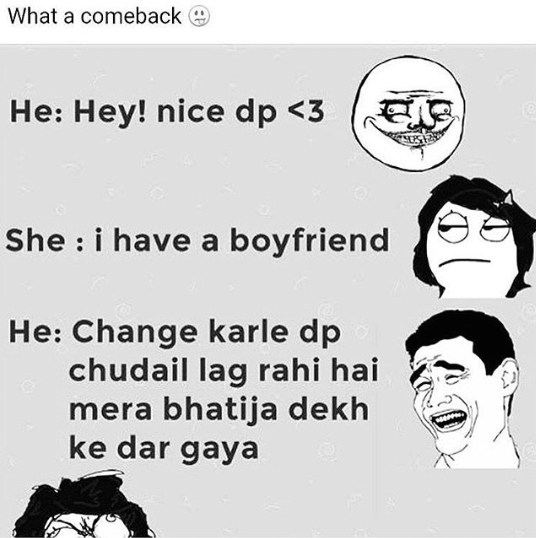 Now that's called a comeback - funny image