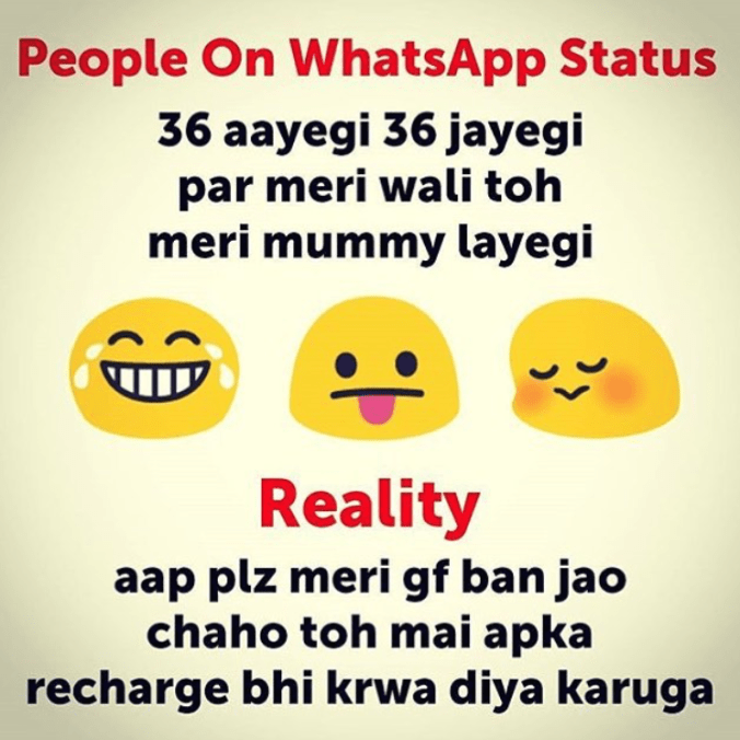 Whatsapp status for a girlfriend - mind blowing