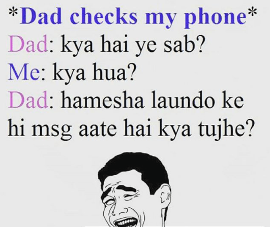 When parents check your phone - mobile meme