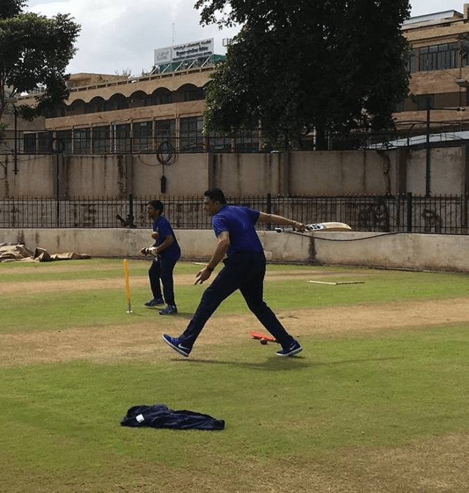 Anil Kumble the new coach practising hard with indian team