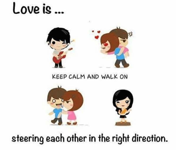 love is keep calm and walk on