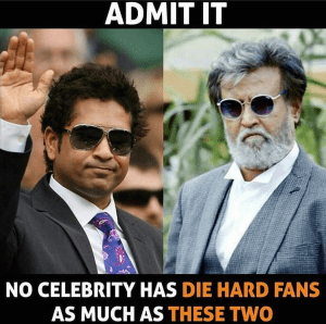 Sachin Tendulkar and Rajnikant - India's biggest celebrities