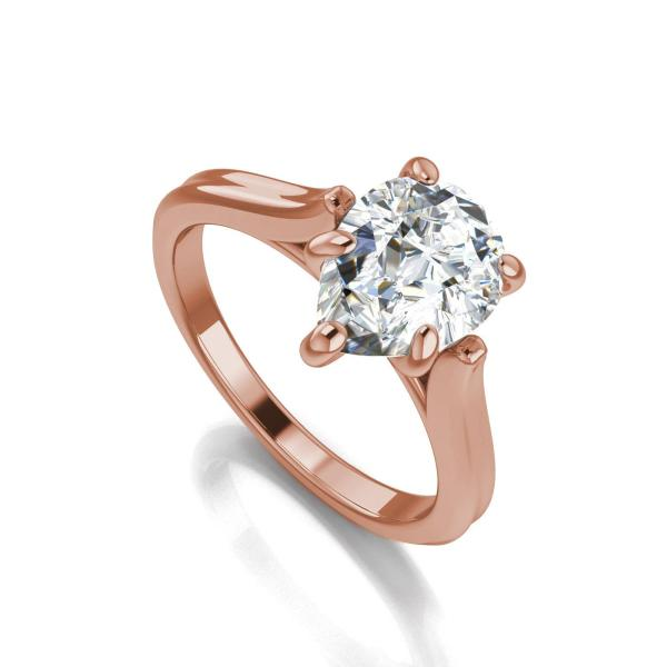 Classic Solitaire 1 Ct Pear Cut Diamond Engagement Ring Rose Gold     Image is loading Classic Solitaire 1 Ct Pear Cut Diamond Engagement