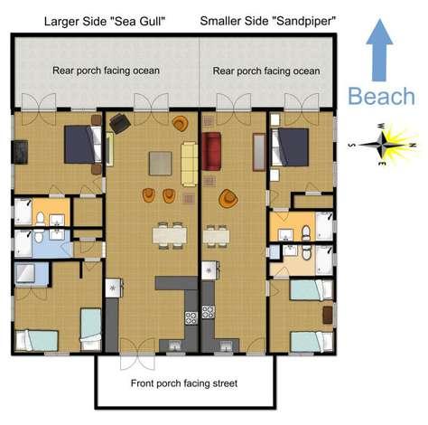 Floorplan layout for both sides