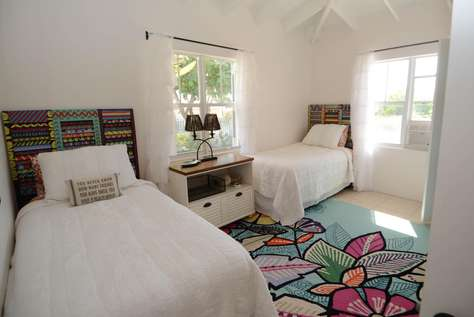 Large side front bedroom. Beds can be pushed together to make another King bed