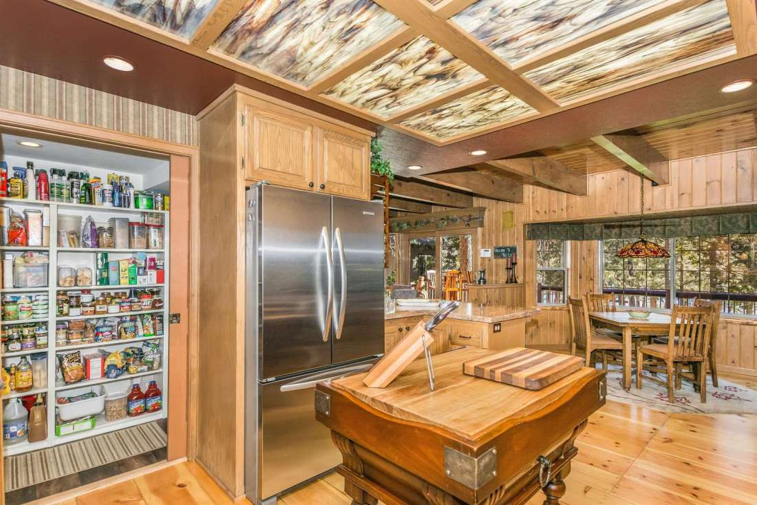 Walk-in pantry and updated appliances