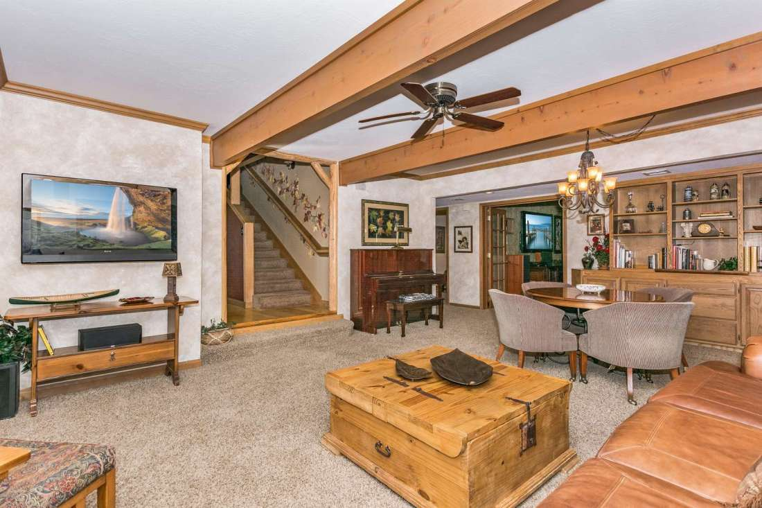 Family room with high end appointments