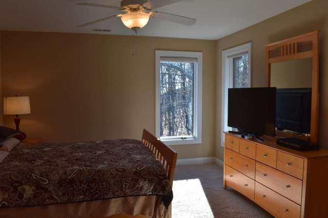 Another view of Forest Bedroom - floor to ceiling windows