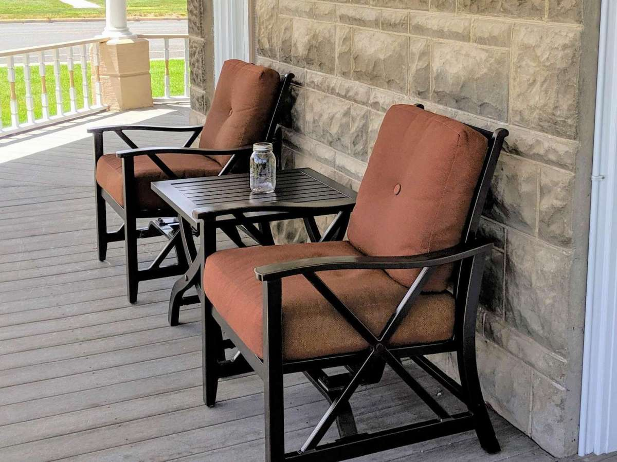 Comfy Chairs on the Front Porch