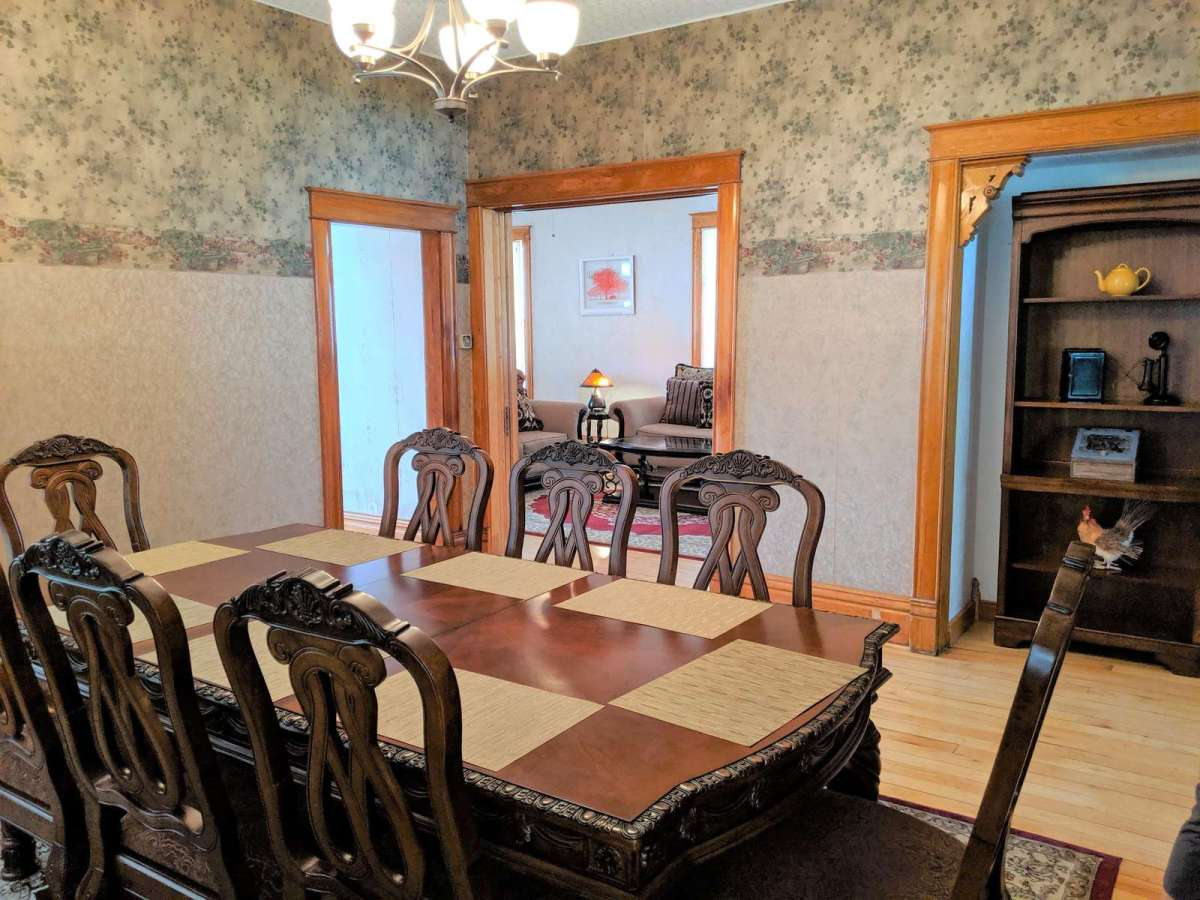 Formal dining room with lots of space