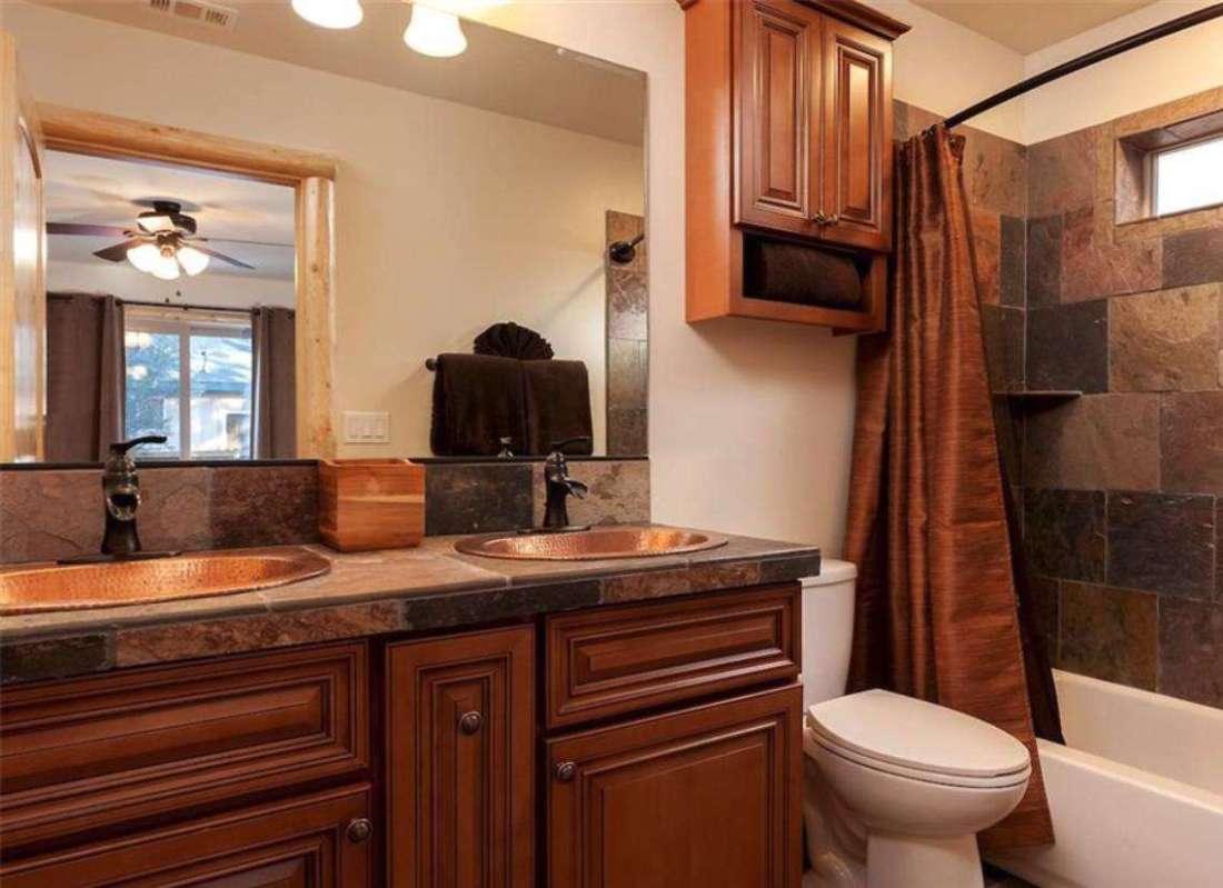 Master bathroom with dual sink