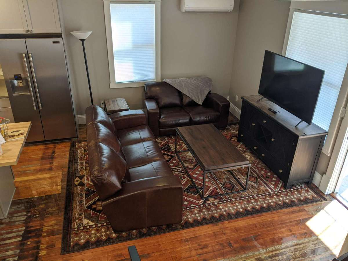 Very comfy living room to unwind and enjoy yourself.