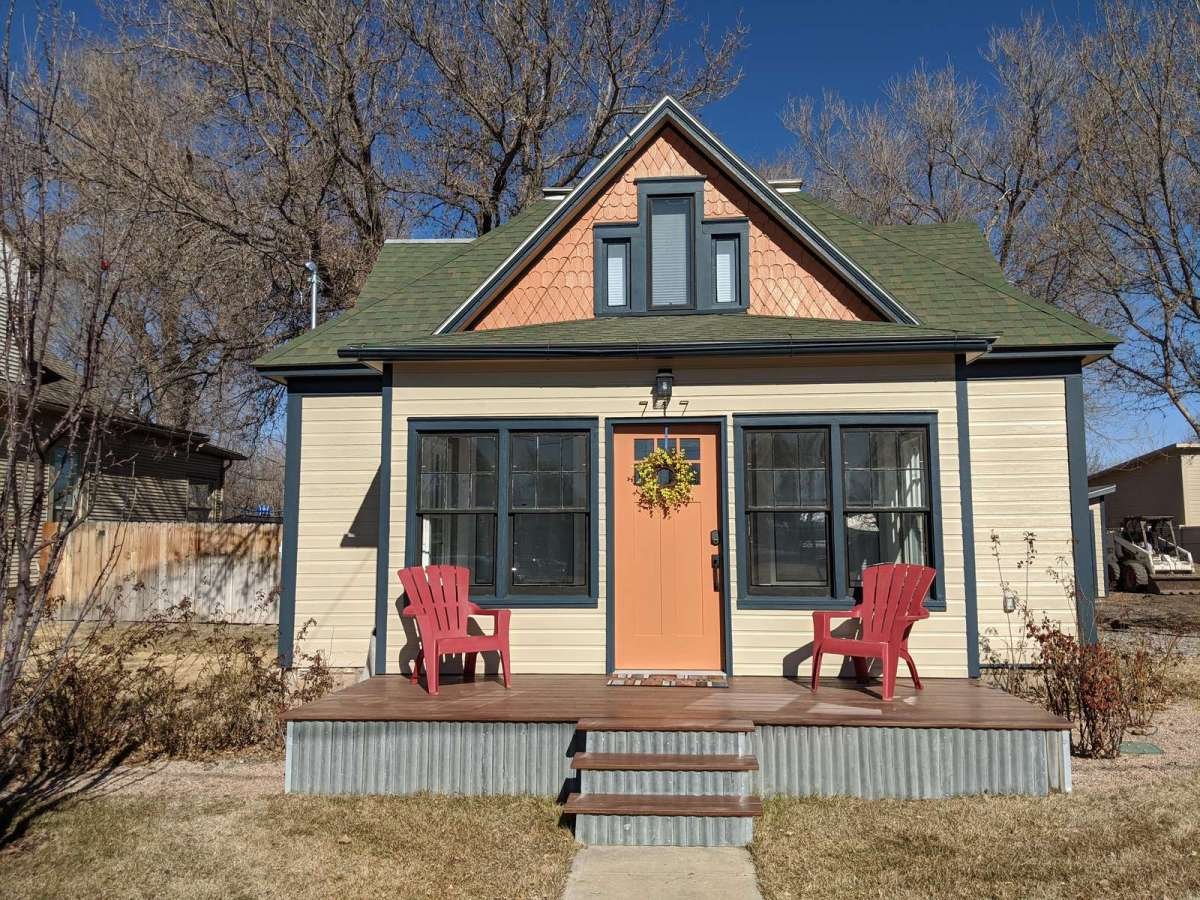 Enjoy the beautiful small town of Fruita from This spacious porch.