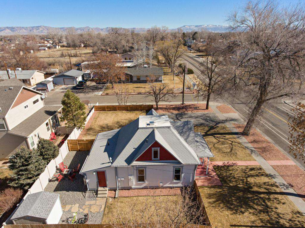 With a large back yard this home offers enough privacy.