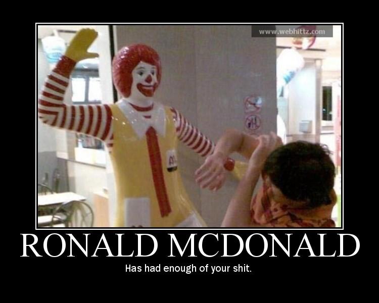 Ronald McDonald's si incazza
