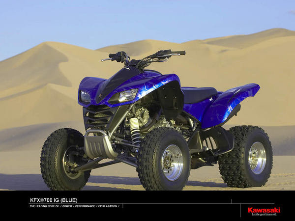 Kawasaki Kfx700 Ig Blue Review