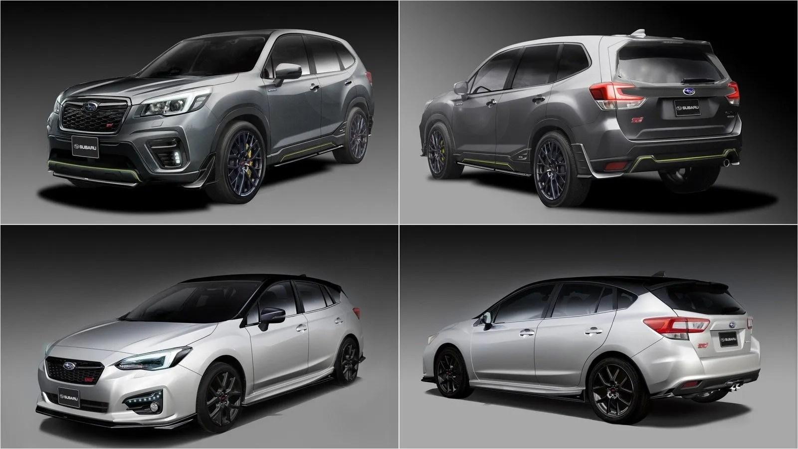 The Subaru Impreza Sti And Forester Sti E Boxer Concepts