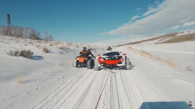 This Lamborghini Aventador on Snow Tracks Is Definite Evidence That Someone Is Too Bored With Too Much Money - image 970553