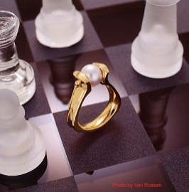 Custom Jewelry Photography of Chessboard with Ring