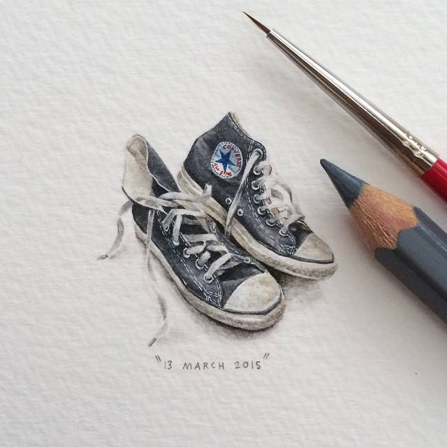 Shoes painting