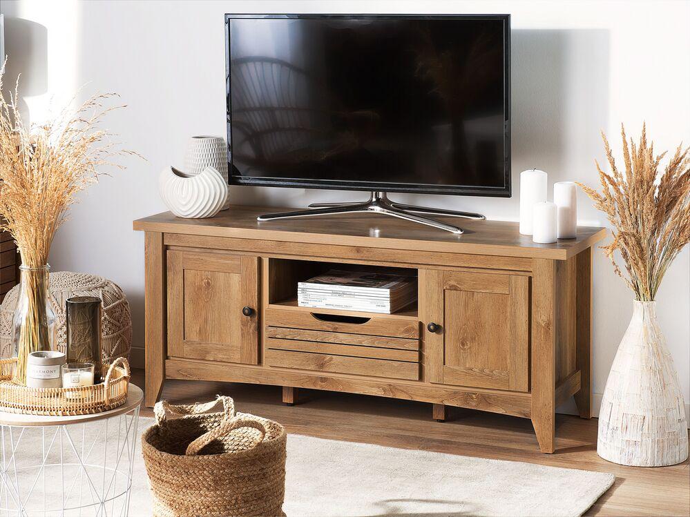 meuble tv bois clair agrora