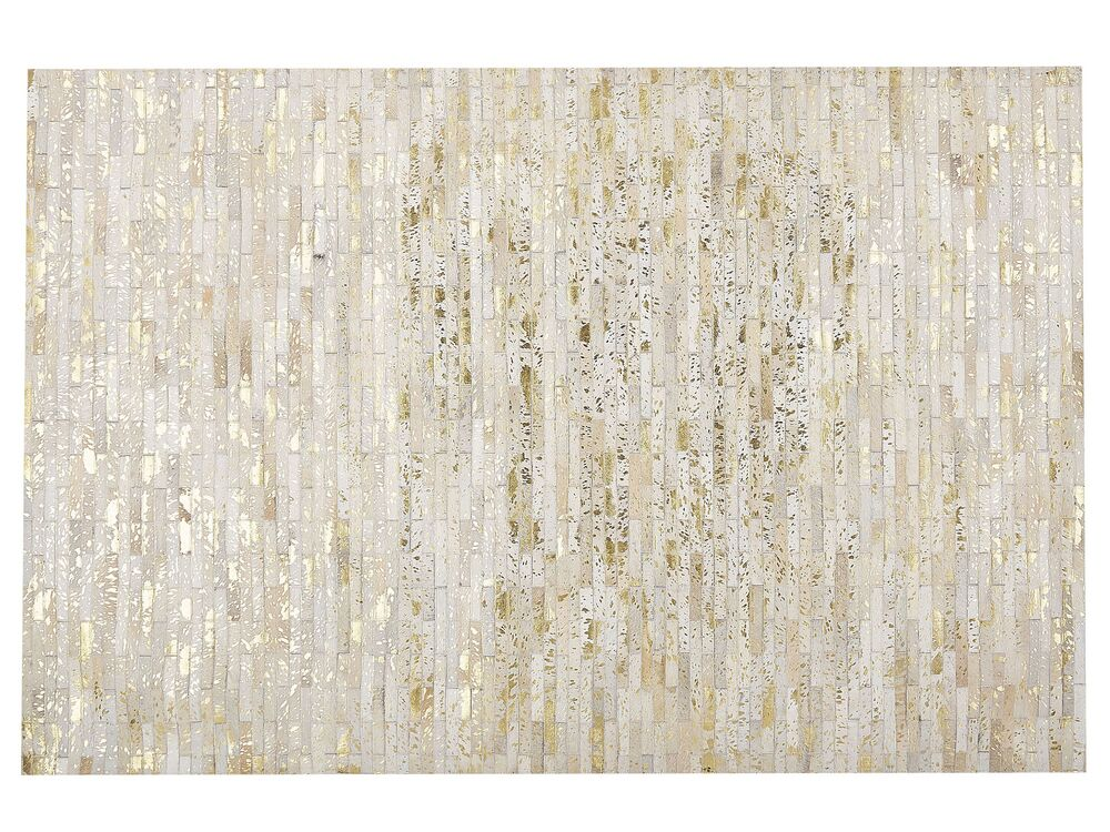 teppich tokul leder 160 x 230 cm gold beige ch