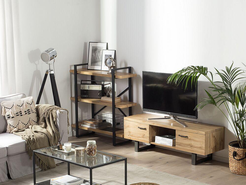 tv mobel timber heller holzfarbton ch
