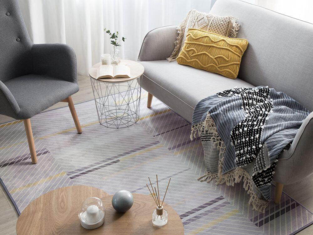 teppich ergenli grau gelb 160x230 cm ch