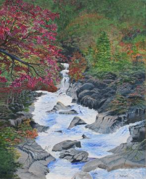 White Water 20x16 Canvas