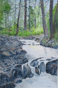 Forest Stream 24x16 Canvas (Private Collection)