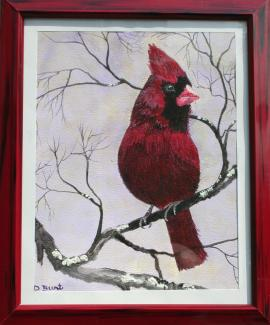 Male Cardinal 10x8 WC Paper