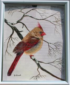 Female Cardinal 10x8 WC Paper