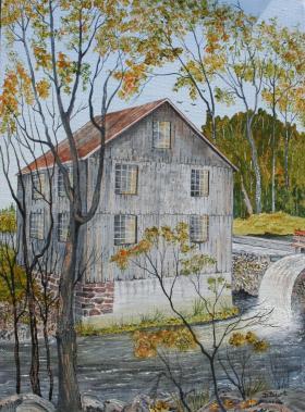 Walter's Falls Mill Pond Spillway 16x12 Canvas