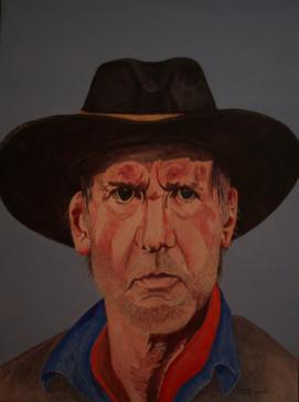 Harrison Ford 16x12 Canvas