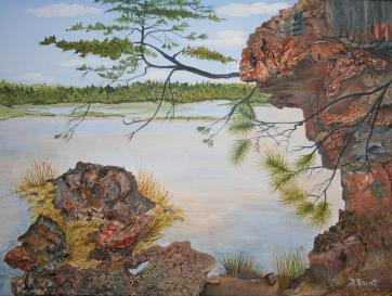 Rocky Shore 12x16 Canvas
